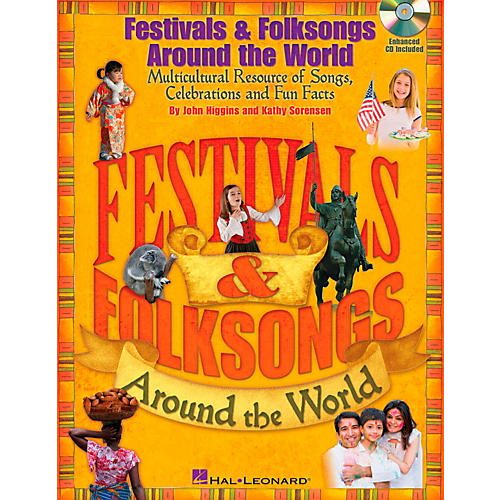 Hal Leonard Festivals & Folksongs Around The World - Multicultural Resource Book/CD-thumbnail