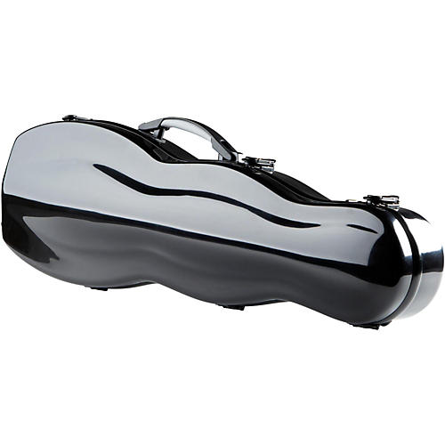The String Centre Fiberglass Gourd Shaped Violin Case 4/4 Black