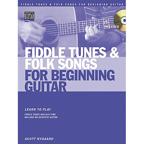 String Letter Publishing Fiddle Tunes and Folk Songs for Beginning Guitar (Book/CD)-thumbnail