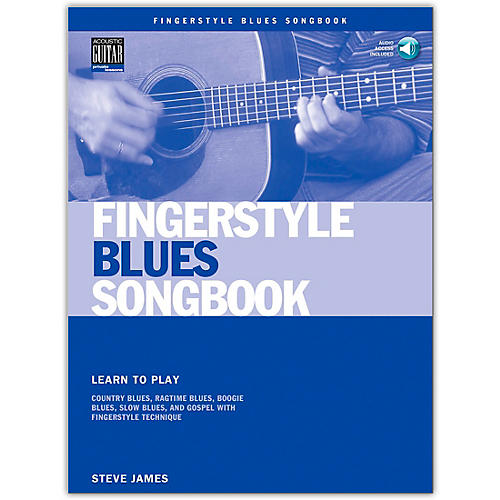 Hal Leonard Fingerstyle Blues Songbook (Book/Online Audio)-thumbnail
