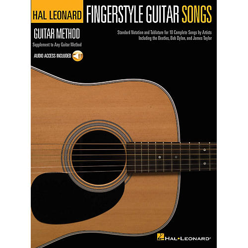 Hal Leonard Fingerstyle Guitar Songs Guitar Method Series Softcover Audio Online Performed by Various