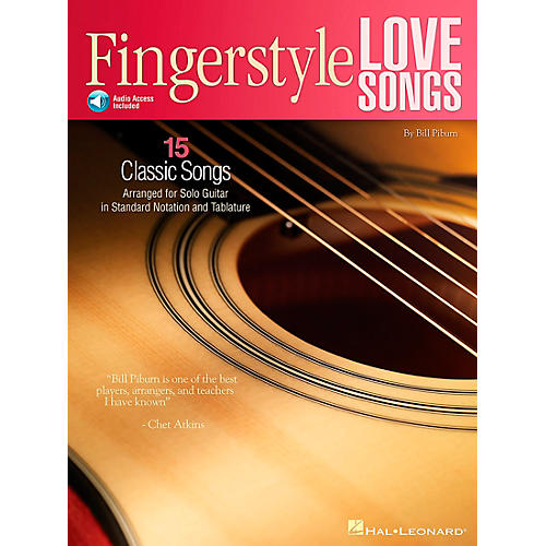 Hal Leonard Fingerstyle Love Songs - 15 Romantic Classics Arranged for Solo Guitar (Book/CD)-thumbnail