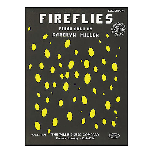 Willis Music Fireflies Late Elementary Piano Solo by Carolyn Miller