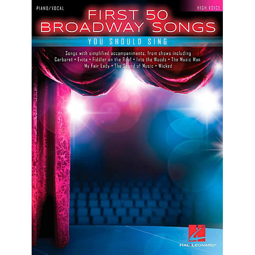 Hal Leonard First 50 Broadway Songs You Should Sing - High Voice-thumbnail
