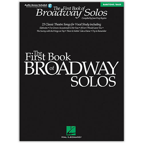 Hal Leonard First Book Of Broadway Solos Baritone/Bass (Book/Online Audio)-thumbnail