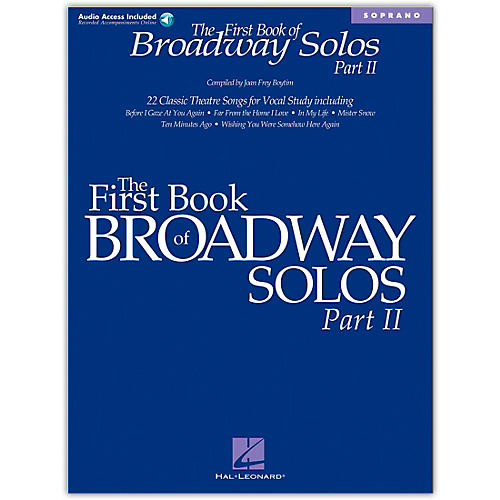 Hal Leonard First Book Of Broadway Solos Part II for Soprano Book/CD-thumbnail