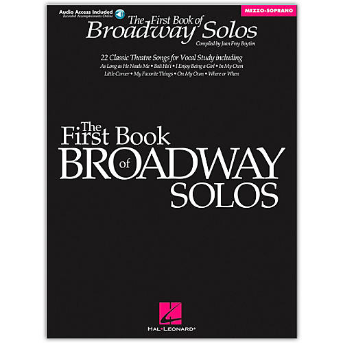 Hal Leonard First Book Of Broadway Solos for Mezzo-Soprano (Book/Online Audio)-thumbnail