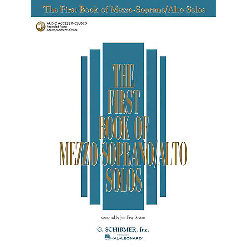 G. Schirmer First Book Of Mezzo-Soprano / Alto Solos Book/2CD Package-thumbnail