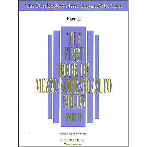 G. Schirmer First Book Of Mezzo-Soprano / Alto Solos Part 2