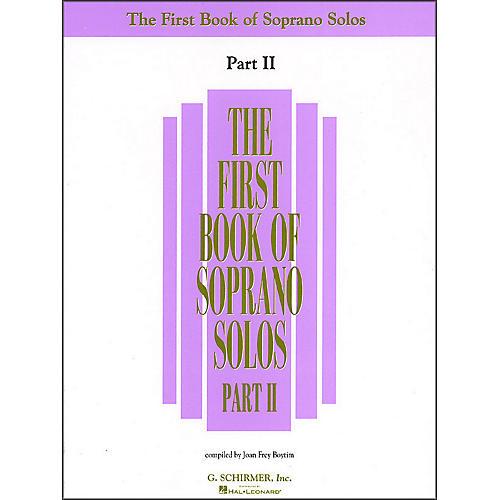 G. Schirmer First Book Of Soprano Solos Part 2-thumbnail