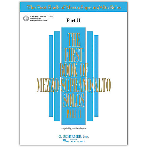 G. Schirmer First Book/Online Audio Of Mezzo-Soprano / Alto Solos Part 2 Book/Online Audio-thumbnail