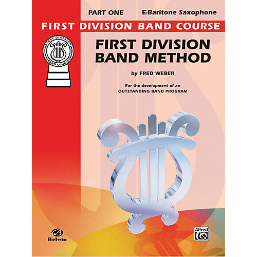 Alfred First Division Band Method Part 1 E-Flat Baritone Saxophone Book-thumbnail