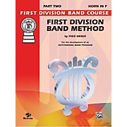Alfred First Division Band Method Part 2 Horn in F