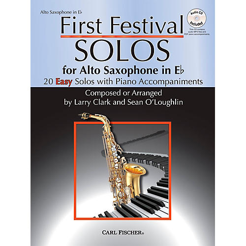Carl Fischer First Festival Solos for Alto Saxophone (20 Easy Solos with Piano Accompaniments)-thumbnail