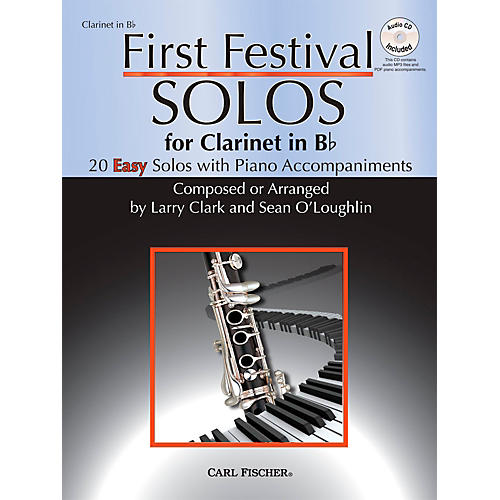 Carl Fischer First Festival Solos for Clarinet (20 Easy Solos with Piano Accompaniments)-thumbnail