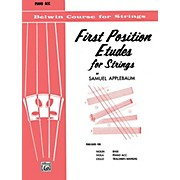 BELWIN First Position Etudes for Strings Piano Acc.