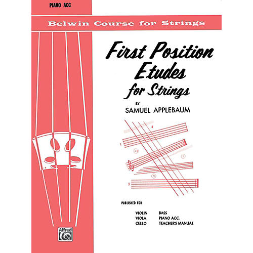 BELWIN First Position Etudes for Strings Piano Acc.-thumbnail