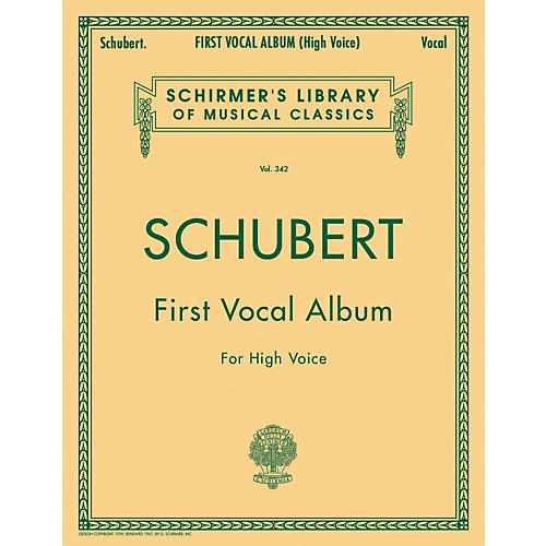 G. Schirmer First Vocal Album for High Voice / Piano (German / English)
