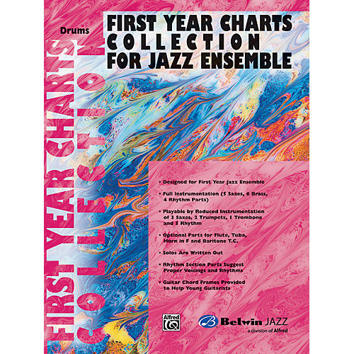 Alfred First Year Charts Collection for Jazz Ensemble Drums-thumbnail