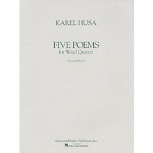 Associated Five Poems for Wind Quintet (Score and Parts) Woodwind Ensemble Series Composed by Karel Husa