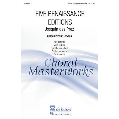 De Haske Music Five Renaissance Editions (Collection) SATTBB A Cappella composed by Josquin des Prez