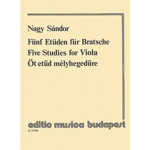 Editio Musica Budapest Five Studies EMB Series by Sándor Nagy