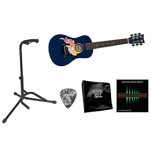 First Act Flame Bling Acoustic Guitar Bundle with Accessory Pack