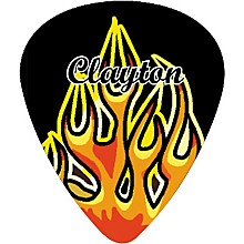 Clayton Flame Guitar Picks Standard
