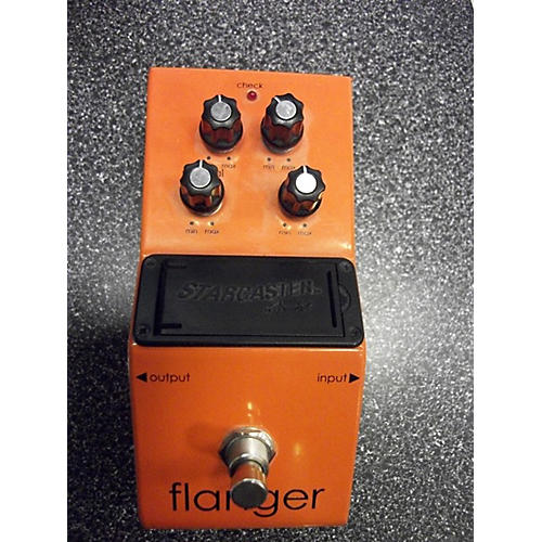 Used Starcaster By Fender Flanger Effect Pedal