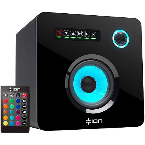 ION Flash Cube Wireless Speaker with Multicolored LED Lighting Black