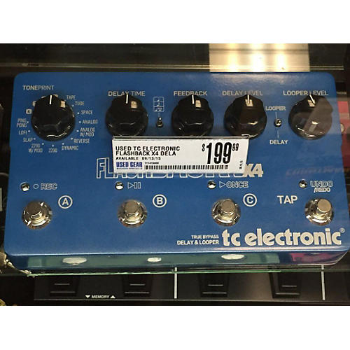 TC Electronic Flashback X4 Delay And Looper Blue Effect Pedal-thumbnail