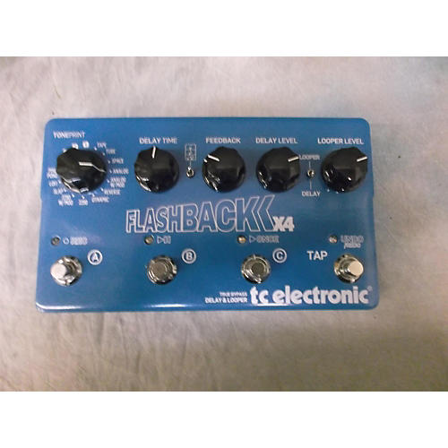 TC Electronic Flashback X4 Delay And Looper Blue Effect Pedal