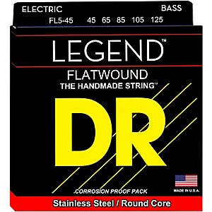DR Strings Flatwound Legend 5 String Bass Medium by DR Strings
