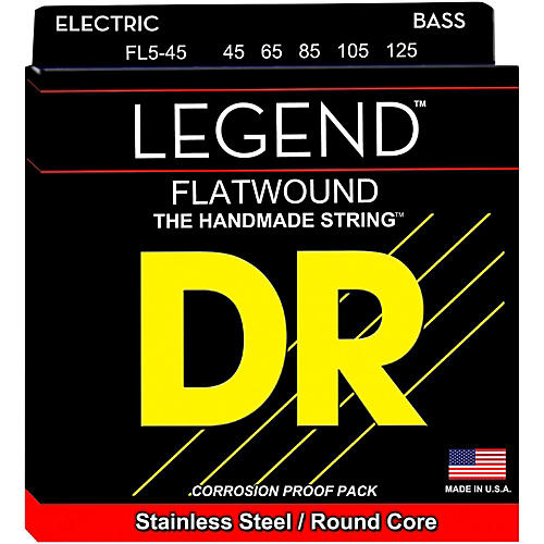 DR Strings Flatwound Legend 5-String Bass Medium-thumbnail