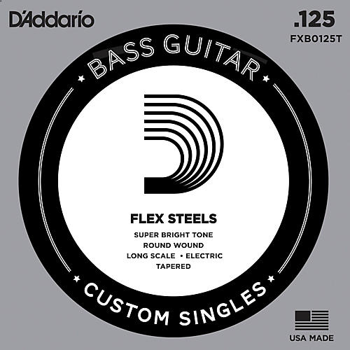 D'Addario FlexSteel Long Scale Tapered Single Bass Guitar String (.125)-thumbnail