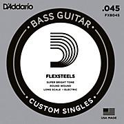 D'Addario FlexSteels Long Scale Bass Guitar Single String (.045)