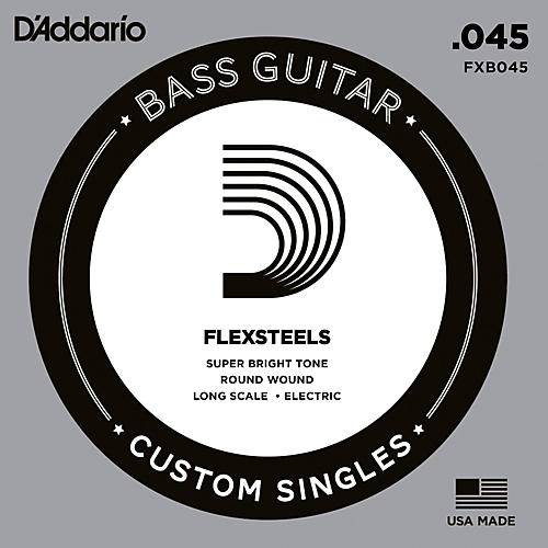 D'Addario FlexSteels Long Scale Bass Guitar Single String (.045)-thumbnail