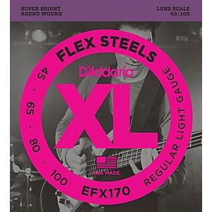 Daddario Flexsteels Long Scale Bass Guitar Strings 45-100
