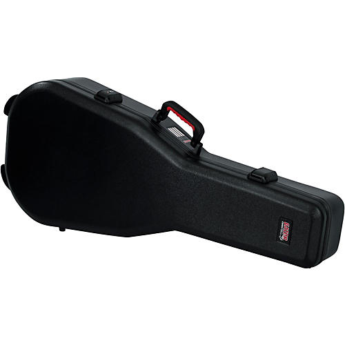 Gator Flight Pro TSA Series ATA Molded Acoustic Guitar Case Black Red