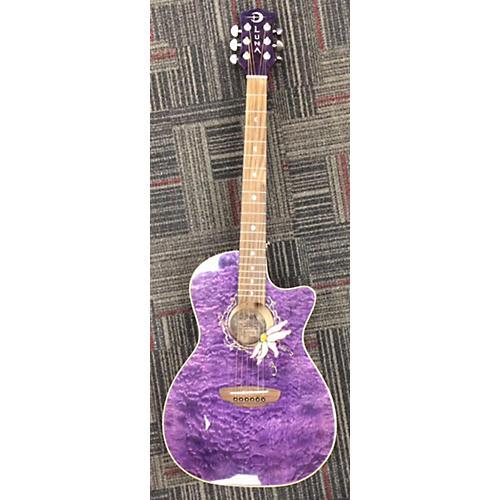 Luna Guitars Flopfqm Acoustic Electric Guitar