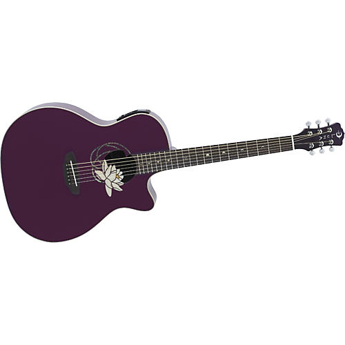 Luna Guitars Flora Lotus Jumbo Acoustic-Electric Guitar