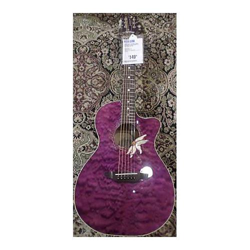 Luna Guitars Flora Passion Flower Acoustic Electric Guitar-thumbnail