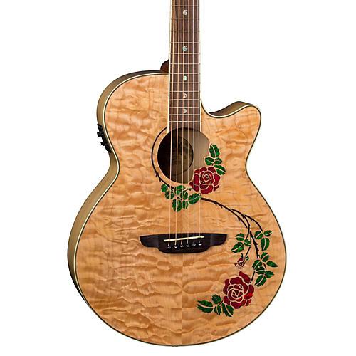 Luna Guitars Flora Rose Acoustic-Electric Guitar-thumbnail