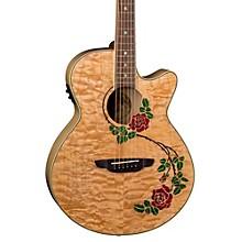Luna Guitars Flora Rose Acoustic-Electric Guitar Level 1 Gloss Natural