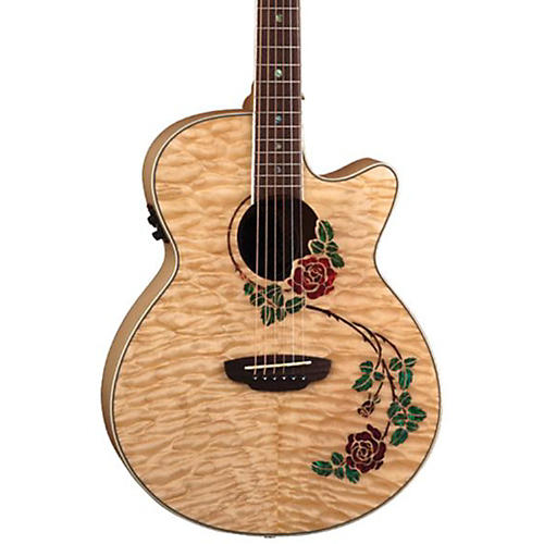Luna Guitars Flora Rose Folk Acoustic-Electric Guitar