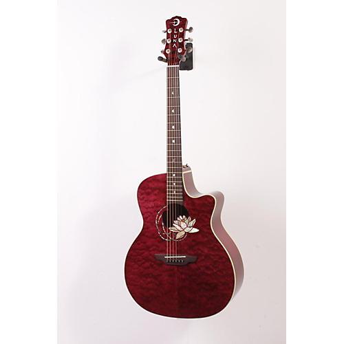 Luna Guitars Flora Series Lotus Grand Auditorium Cutaway Acoustic-Electric Guitar-thumbnail