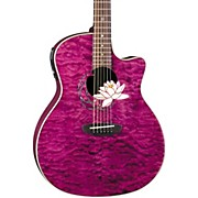Luna Guitars Flora Series Lotus Grand Auditorium Cutaway Acoustic-Electric Guitar