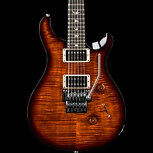 Floyd Custom 24 Carved Flame Maple 10 Top with Nickel Hardware Solid Body Electric Guitar Black Gold Wrap Burst