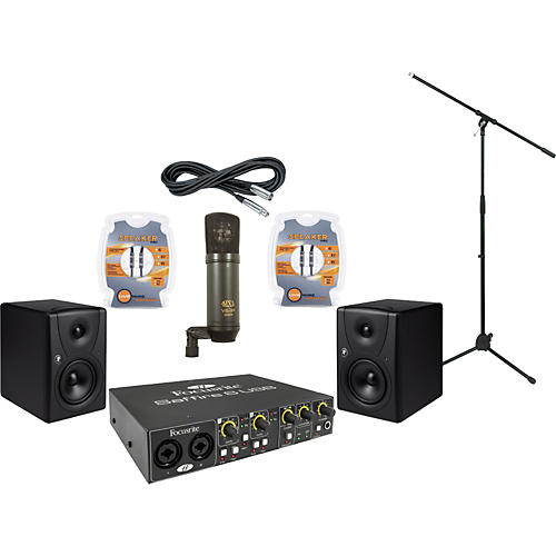 Mackie Focusrite Saffire 6 and Mackie MR5 Recording Package