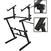 On-Stage Stands Folding Heavy-Duty Dual-Tier Z Stand